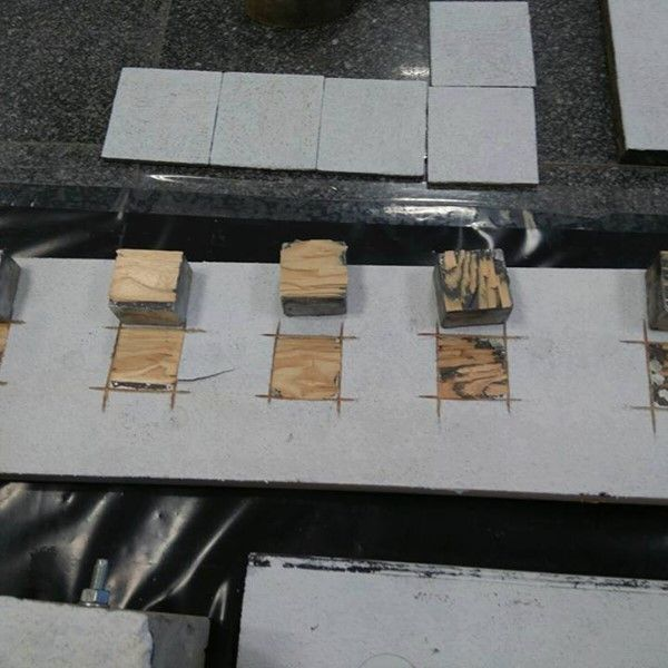 Ensayo de adherencia sobre madera
