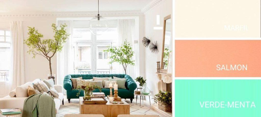 Colores de pintura pastel para el salon