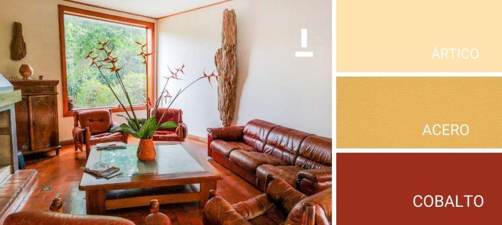 Salón en colores ocres