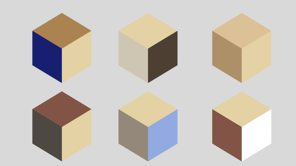 Posibles combinaciones del color arena