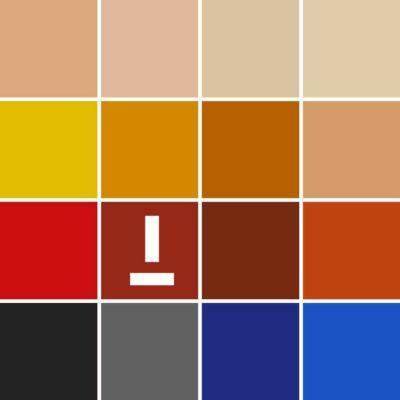 Paleta colores mate