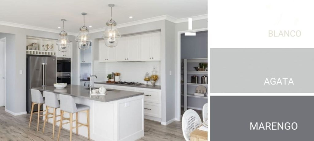 Colores de pintura grises para la cocina