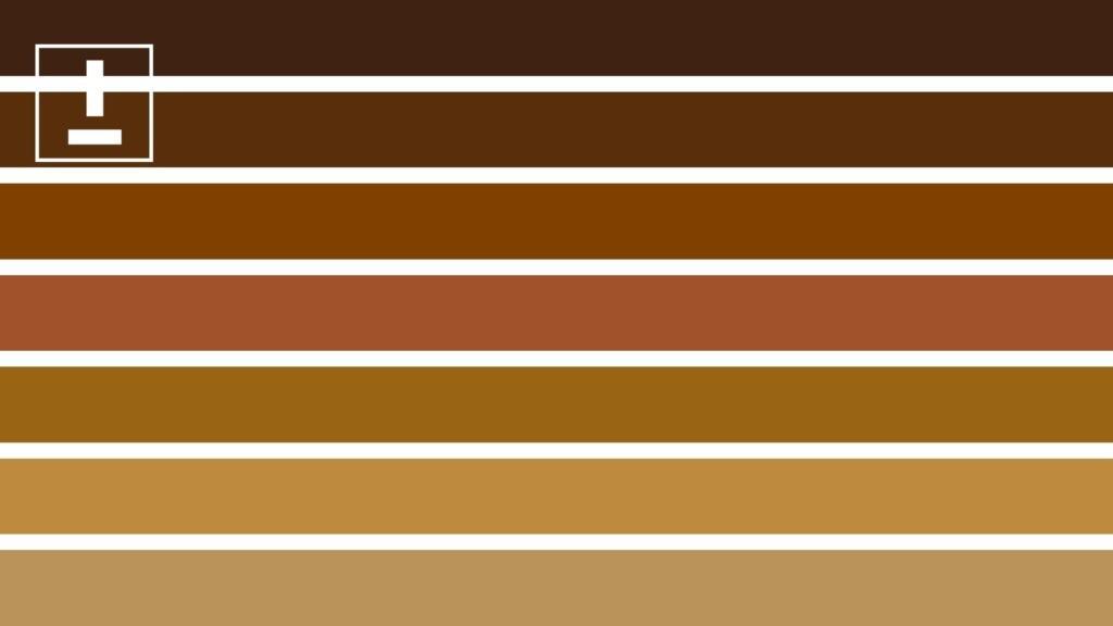 gama de colores tostados